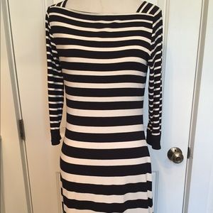 WHITE HOUSE BLACK MARKET WHBM ✨DRESS STRIPE XS